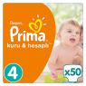 Prima Bebek Bezi Kuru ve Hesaplı 4 Beden Maxi Mega Paket 50 Lı