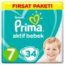 Prima Çocuk Bezi Fırsat Paketi 7 Numara 34 Lu