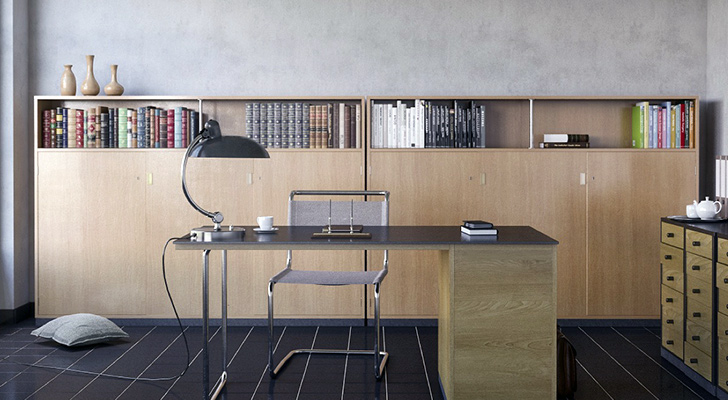 Evde ofis dekorasyonu için Tıklayın