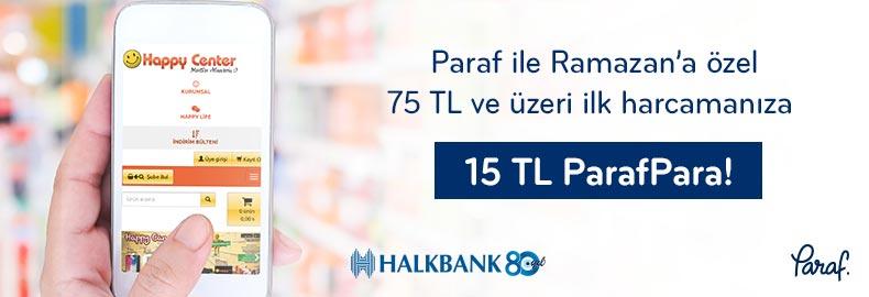 Paraf ile Ramazan'a özel 75 TL ve üzeri ilk harcamaya 15 TL ParafPara!