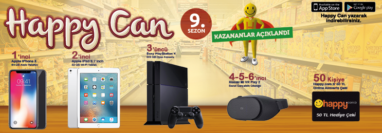 Happy Can 9.Sezon Kazananlar Listesi
