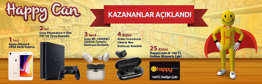 Happy Can 16.sezon kazananlar