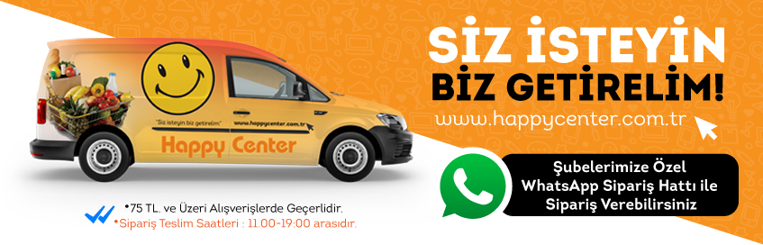 Happy Center Whatsapp Siparis Hatları Açıldı