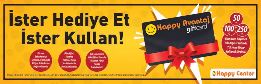 Happy Giftcard, İster Hediye Et İster Kullan