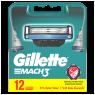 "Gillette Mach3 Yedek Tıraş Bıçağı 12""li"