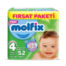 Molfix Çocuk Bezi M.Plus Fırsat Paketi 52 Li