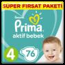 Prima Çocuk Bezi Süper Fırsat Paket Maxi 76 lı