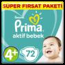 Prima Çocuk Bezi Super Fırsat Pkt Maxı Plus 72 Lı