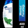 H&S Şampuan 2 In 1 Menthol Ferahlığı 400 Ml