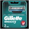 "Gillette Mach3 Yedek Tıraş Bıçağı 2""li"