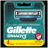 """Gillette Mach3 Yedek Tıraş Bıçağı 4""""lü"""