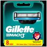 "Gillette Mach3 Yedek Tıraş Bıçağı 8""li"