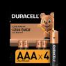 "Duracell Alkalin AAA İnce Kalem Pil 4""lü Paket"