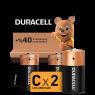 "Duracell Alkalin C Orta Boy Pil 2""li Paket"