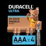 "Duracell Turbo Max Alkalin AAA İnce Kalem Pil 4""lü Paket"