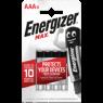 Energizer Alkalin Pil Max AAA Bp 4