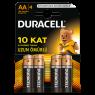 "Duracell Alkalin AA Kalem Pil 4""lü Paket"