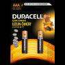 "Duracell Alkalin AAA İnce Kalem Pil 2""li Paket"