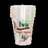 """İwo Şeffaf Beyaz Plastik Bardak 10""""lu 180 ml"""