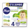 Sleppy Çocuk Bezi Natural Maxi 2 Li Jumbo 60 Lı
