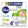Sleppy Çocuk Bezi Natural  Maxi Plus 2 Li Jumbo 52 Li