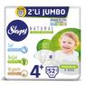 Sleppy Çocuk Bezi Natural  Maxi Plus 2 Li Jumbo 52 Li