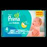 Prima Bebek Bezi Aktif Bebek 4 Beden Maxi Mega Paket 45 Adet