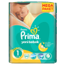 Prima Bebek Bezi Yeni Bebek Yenidoğan Mega Paket No:1 (2-5 kg) 72 Adet