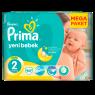 Prima Bebek Bezi Yeni Bebek 2 Beden Mini Mega Paket 64 Adet