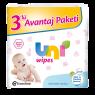 "Uni Wipes Islak Havlu 3x64""lü Avantaj Paketi"